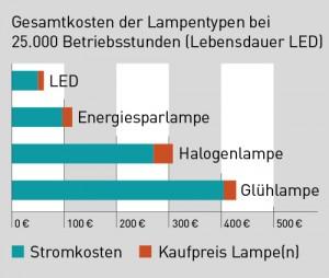 Wirtschaftlichkeit Graphik Stromkosten